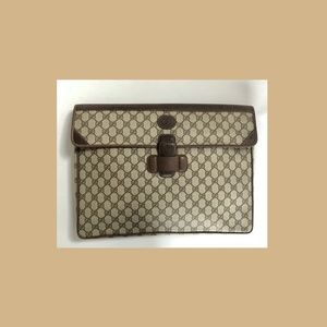 COPY - AUTH Vintage Gucci Brown Document Holder
